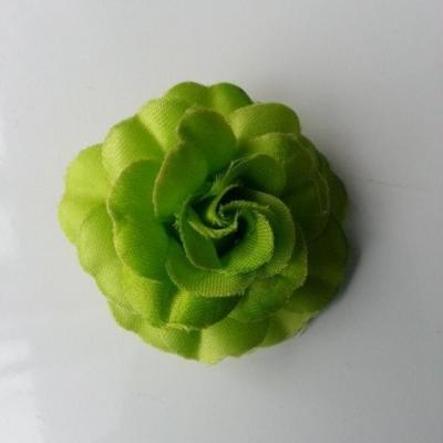 fleur en tissu vert de 45mm