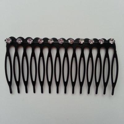 Peigne noir avec strass à décorer 75*45mm