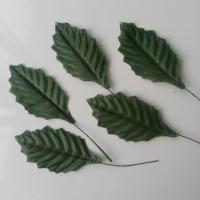 5 Feuilles de houx artificielles  vert