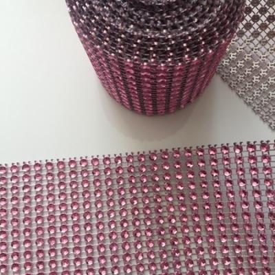50 cm de ruban imitation strass rose    5cm de largeur
