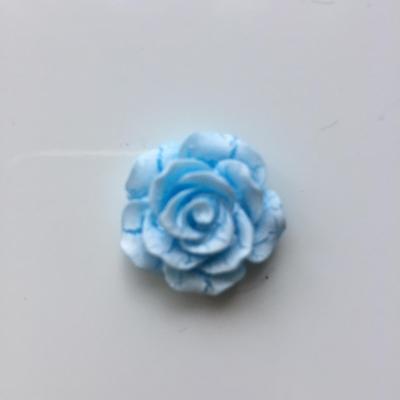 rose en résine 20mm bleu et  blanche