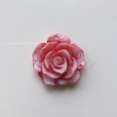 rose en résine 20mm rouge et blanche