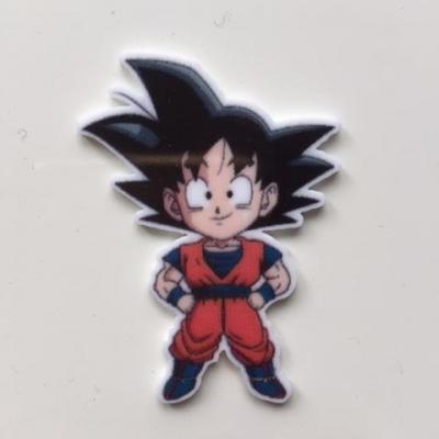cabochon en resine Son Goku dragon ball Z 45*45mm