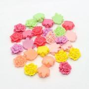 Perle de resine fleur creme 15mm