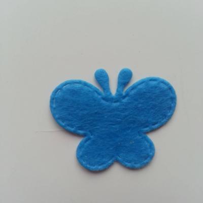 Papillon en feutrine   35*29mm  bleu