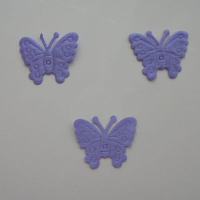lot de 3 papillons  en satin    27*21mm mauve