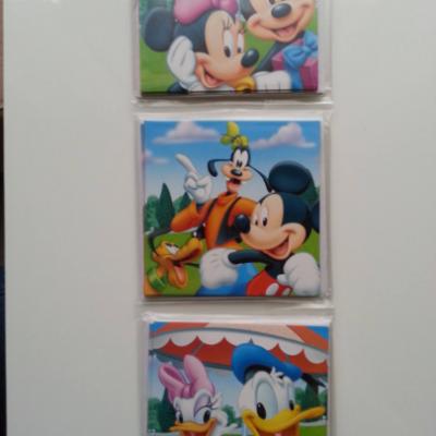 lot de 12 cartes invitation anniversaire enfant avec enveloppe minnie et mickey  8.5cm