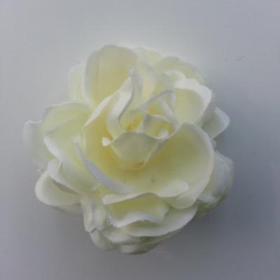 fleur artificielle en tissu de 50mm ivoire