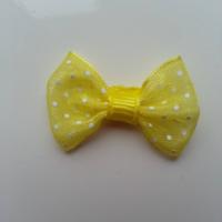 Noeud en voile à pois 35*25mm  jaune