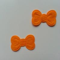 Lot de 2 appliques noeuds feutrine   28*18mm orange