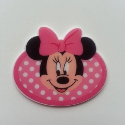 minnie cabochon en résine plat rose 45 * 38mm