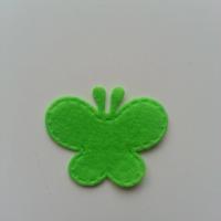 Papillon en feutrine   35*29mm vert