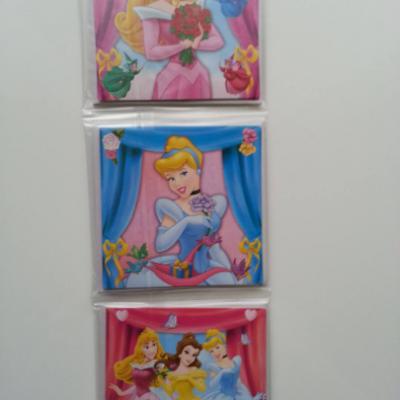 lot de 12 cartes invitation anniversaire enfant princesse avec enveloppe  8.5cm