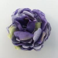 fleur artificielle en tissu de 50mm bleu foncé