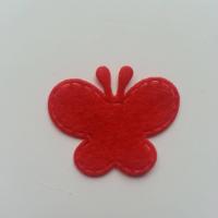 Papillon en feutrine   35*29mm  rouge