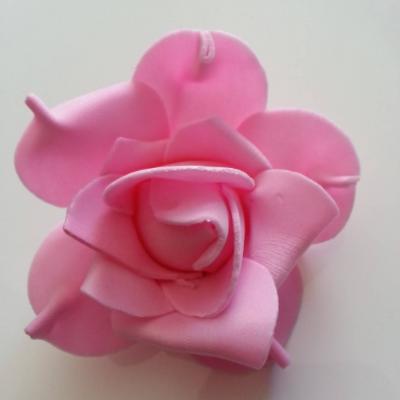 tête de rose en mousse  70mm rose