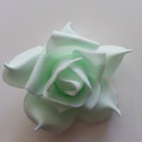 tête de rose en mousse  70mm vert pastel