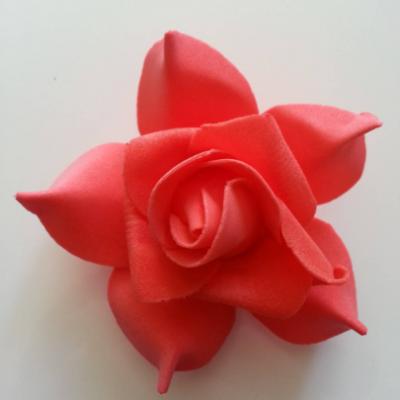 tête de rose en mousse  70mm rouge