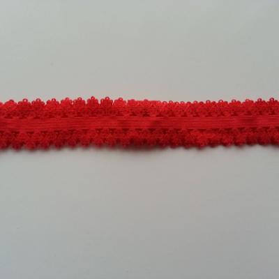 Bandeau élastique dentellé rouge