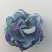 fleur artificielle en tissu de 50mm bleu