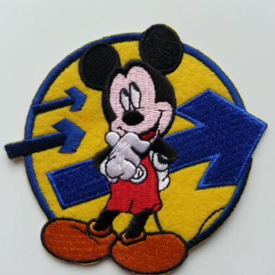 Ecusson , patch  à repasser  souris mickey 95*85mm