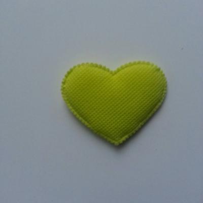 Coeur en feutre matelassé  épaisseur 1mm   32*32mm vert