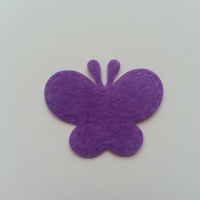 Papillon en feutrine   35*29mm violet