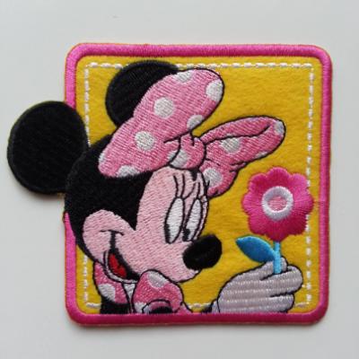 Ecusson , patch  à repasser  souris minie 90*80mm