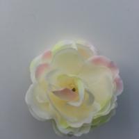fleur artificielle en tissu de 50mm ivoire et rose