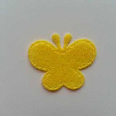 Papillon en feutrine   35*29mm  jaune