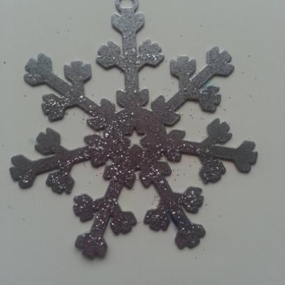 flocon, Etoile de noel en métal gris argenté 80mm (2)