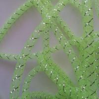 1 mètre de résille tubulaire vert et argent 1cm
