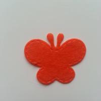 Papillon en feutrine   35*29mm  orange
