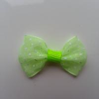 Noeud en voile à pois 35*25mm vert fluo